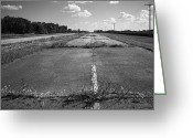 Blacktop Greeting Cards - Abandoned Route 66 Greeting Card by Frank Romeo