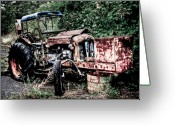 Nut Greeting Cards - Abandoned Tractor Greeting Card by Gert Lavsen