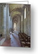 12th Century Greeting Cards - Abbazia di SantAntimo Greeting Card by Rob Tilley