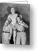 Movie Star Greeting Cards - Abbott And Costello Greeting Card by Granger