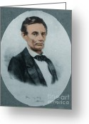 Presidency Greeting Cards - Abraham Lincoln, 16th American President Greeting Card by Science Source