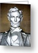 Ocularperceptions Greeting Cards - Abraham Lincoln Greeting Card by Christopher Holmes
