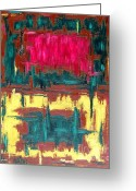 Merchandise Painting Greeting Cards - Abstract 16 Greeting Card by Patrick J Murphy