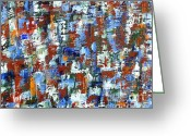 Merchandise Painting Greeting Cards - Abstract 197 Greeting Card by Patrick J Murphy
