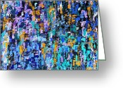 Merchandise Painting Greeting Cards - Abstract 203 Greeting Card by Patrick J Murphy