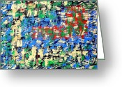 Merchandise Painting Greeting Cards - Abstract 208 Greeting Card by Patrick J Murphy
