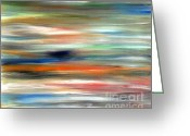 Modern Greeting Cards - Abstract 215 Greeting Card by Patrick J Murphy