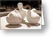 Bright Sculpture Greeting Cards - Abstract American Art Greeting Card by Yurix Sardinelly
