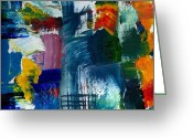 Dye Greeting Cards - Abstract Color Relationships l Greeting Card by Michelle Calkins