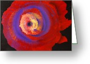 Abstract Flower Greeting Cards - Abstract flower  Greeting Card by Lyubomir Kanelov