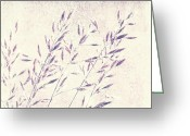 Textured Floral Greeting Cards - Abstract gras Greeting Card by Angela Doelling AD DESIGN Photo and PhotoArt