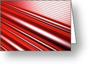 Creativity Digital Art Greeting Cards - Abstract Line Pattern Greeting Card by Ralf Hiemisch