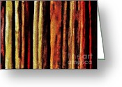 Reds Greeting Cards - Abstract Lines Greeting Card by Marsha Heiken