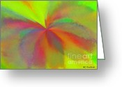 Burgeon Greeting Cards - Abstract Greeting Card by ME Kozdron