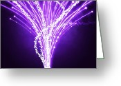 Hardware Greeting Cards - Abstract Of Fiber Optic Greeting Card by Setsiri Silapasuwanchai