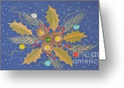 Ornaments Painting Greeting Cards - Abundance Greeting Card by Georgeta  Blanaru