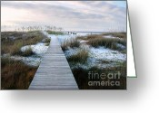 Beach Scenes Greeting Cards - Across the Dunes Greeting Card by Julie Dant
