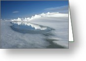 Admiralty Greeting Cards - Admiralty Inlet, Nunavut, Canada Greeting Card by Louise Murray