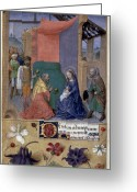 Adoration Greeting Cards - Adoration Of Magi Greeting Card by Granger