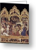 Adoration Greeting Cards - Adoration Of The Magi Greeting Card by Granger
