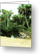 Florida Bridge Mixed Media Greeting Cards - Adventure Awaits Greeting Card by Florene Welebny