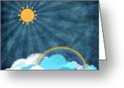 Art Education Greeting Cards - After Rainy Greeting Card by Setsiri Silapasuwanchai
