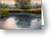 River Pastels Greeting Cards - After the Rain Greeting Card by Susan Jenkins