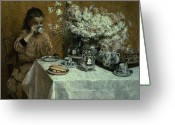 Kid Painting Greeting Cards - Afternoon Tea Greeting Card by Isidor Verheyden