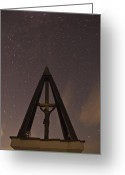 Startrails Greeting Cards - Against the stars Greeting Card by Ian Middleton