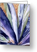 Southwest Greeting Cards - Agave 3 Greeting Card by Eunice Olson
