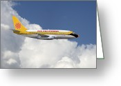Military Artwork Greeting Cards - Air California Boeing 737-200 Greeting Card by Larry McManus