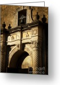 Alamo Greeting Cards - Alamo Mission Greeting Card by Iris Greenwell
