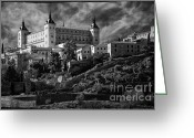 Toledo Greeting Cards - Alcazar Greeting Card by Joan Carroll