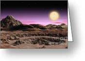 Extrasolar Planet Greeting Cards - Alpha Centauri System Greeting Card by Lynette Cook