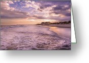 Topsail Island Greeting Cards - Always Remember the Sunset Greeting Card by East Coast Barrier Islands Betsy A Cutler