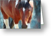 Horse Greeting Cards Greeting Cards - Ambers Run Greeting Card by Colleen Taylor