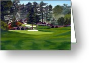 Number 12 Greeting Cards - Amen Corner Greeting Card by Jerry Walker