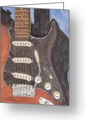 Guitar Greeting Cards - American Standard Greeting Card by Ken Powers