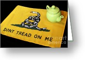 Tea Party Greeting Cards - American Tea Party Greeting Card by John Van Decker