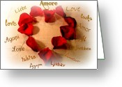 Amor Photo Greeting Cards - Amore  Greeting Card by Kathy Bucari