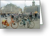 City Centre Greeting Cards - Amsterdam Greeting Card by Svetlana Sewell