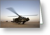 Agm-114 Greeting Cards - An Ah-64d Apache Longbow Block Iii Gets Greeting Card by Terry Moore