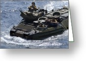 Armored Vehicles Greeting Cards - An Amphibious Assault Vehicle Greeting Card by Stocktrek Images
