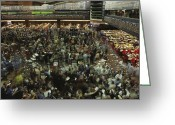 American Scenes Greeting Cards - An Elevated View Of Traders Greeting Card by Michael S. Lewis