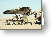 Operation Desert Storm Greeting Cards - An Mim-23b Hawk Surface-to-air Missile Greeting Card by Stocktrek Images