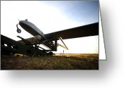 Hurlburt Field Greeting Cards - An Rq-7b Shadow Unmanned Aerial Vehicle Greeting Card by Stocktrek Images