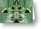 Ancient Aliens Greeting Cards - Ancient Aliens 4 Greeting Card by Michael Massurin