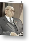 1950s Portraits Photo Greeting Cards - Andrei Tupolev, Soviet Aircraft Designer Greeting Card by Ria Novosti