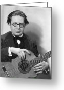 Composer Greeting Cards - Andres Segovia Greeting Card by Granger