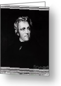 Presidency Greeting Cards - Andrew Jackson, 7th American President Greeting Card by Photo Researchers